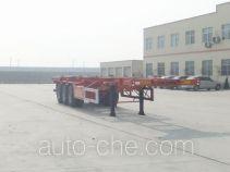 麟州牌YDZ9400TJZ型集装箱运输半挂车
