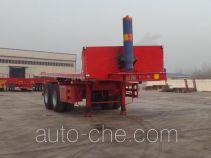 Huajing YJH9350ZZXP flatbed dump trailer