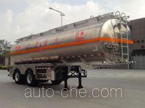 永强牌YQ9300GYYT1型铝合金运油半挂车