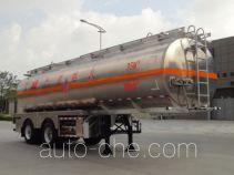 Yongqiang YQ9310GRYT1 flammable liquid aluminum tank trailer