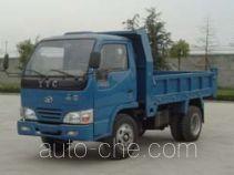英田牌YT2810D1型自卸低速货车