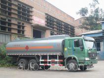 Minjiang YZQ5257GHY3 chemical liquid tank truck