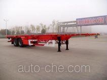 华骏牌ZCZ9350TJZHJB型集装箱运输半挂车