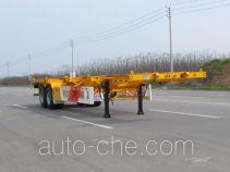 华骏牌ZCZ9350TWYHJF型危险品罐箱骨架运输半挂车
