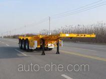 华骏牌ZCZ9400TWYHJF型危险品罐箱骨架运输半挂车