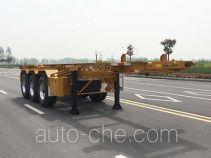 Huajun ZCZ9401TWYHJG dangerous goods tank container skeletal trailer