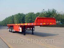 华骏牌ZCZ9403TPBHJE型平板运输半挂车