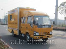 Gas cylinder inspection vehicle