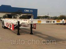 CIMC ZJV9350TWYQD dangerous goods tank container skeletal trailer