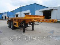 中集牌ZJV9351ZZXPSZ型平板自卸半挂车