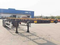 CIMC ZJV9352TWYQDA dangerous goods tank container skeletal trailer