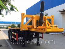 中集牌ZJV9356ZZXPQD型平板自卸半挂车