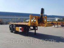 中集牌ZJV9356ZZXQD型平板自卸半挂车
