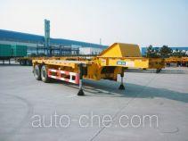 中集牌ZJV9358ZZXPQD型平板自卸半挂车