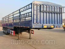 中集牌ZJV9402CCYQD型仓栅式运输半挂车