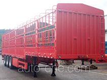 中集牌ZJV9400CCYSZ型仓栅式运输半挂车