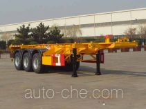 中集牌ZJV9400TWYQD型危险品罐箱骨架运输半挂车