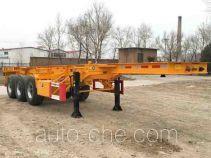 CIMC ZJV9400TWYQDS dangerous goods tank container skeletal trailer