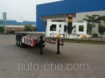 中集牌ZJV9400ZZXPQD型平板自卸半挂车