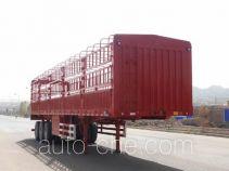 中集牌ZJV9401CLXBYA型仓栅式运输半挂车