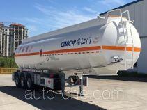 中集牌ZJV9401GRYJM型铝合金易燃液体罐式运输半挂车