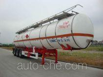 中集牌ZJV9404GRYSZB型铝合金易燃液体罐式运输半挂车