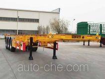 中集牌ZJV9406TWYQDS型危险品罐箱骨架运输半挂车