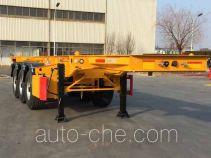 CIMC ZJV9408TWYQDSG dangerous goods tank container skeletal trailer