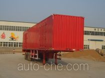 Juwang ZJW9405XXY box body van trailer