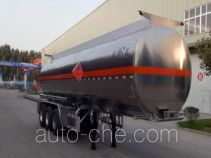 Flammable liquid aluminum tank trailer
