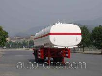 Zhongqi ZQZ9340GHY chemical liquid tank trailer
