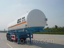 中汽牌ZQZ9380GDY型低温液体运输半挂车