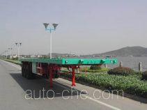 中奇牌ZQZ9400TJZP型集装箱平板半挂车