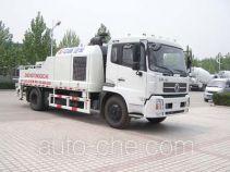 东岳牌ZTQ5129THBED型车载式混凝土泵车