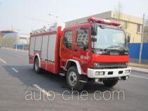 Zhongzhuo Shidai ZXF5160GXFSG50/W fire tank truck
