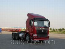 Sinotruk Hania ZZ4255N2945C1Z container transport tractor unit