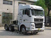 Sinotruk Sitrak ZZ4256V323HD1W dangerous goods transport tractor unit
