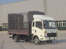 豪沃牌ZZ5047CCYF341BD145型仓栅式运输车