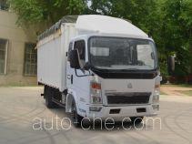 豪泺牌ZZ5047CPYD3414D137型蓬式运输车