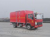 豪沃牌ZZ5047XRQF341CE145型易燃气体厢式运输车