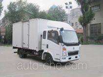 豪沃牌ZZ5047XXYD3414D145型厢式运输车