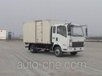 豪沃牌ZZ5047XXYF331BE145型厢式运输车