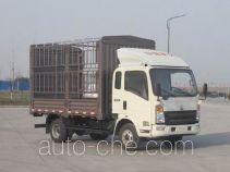 豪沃牌ZZ5057CCYF381CD154型仓栅式运输车