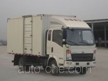 豪沃牌ZZ5067XXYF341BD165型厢式运输车