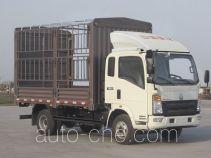 豪沃牌ZZ5087CCYF341BD183型仓栅式运输车
