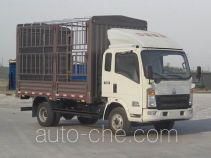 豪沃牌ZZ5087CCYF341CD183型仓栅式运输车