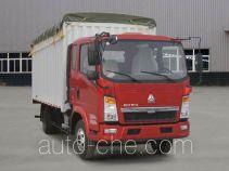 豪泺牌ZZ5087CPYD3414D183型蓬式运输车