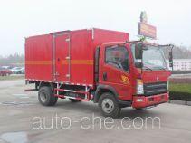 豪沃牌ZZ5087XRQF331CE183型易燃气体厢式运输车