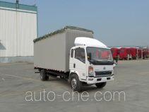 豪泺牌ZZ5127CPYD4215D1型蓬式运输车