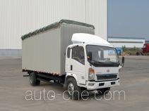 豪泺牌ZZ5127CPYD4715D1型蓬式运输车